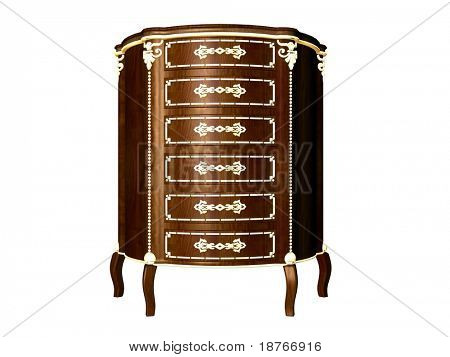3d rendering of commode
