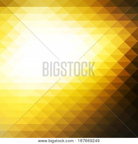 Black Yellow White Rows Of Triangles Background, Square