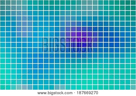 Turquoise Blue Purple Square Mosaic Background Over White