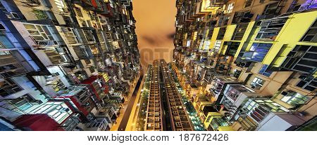Quarry Bay high rise housing on Hong Kong Island in Hong Kong China