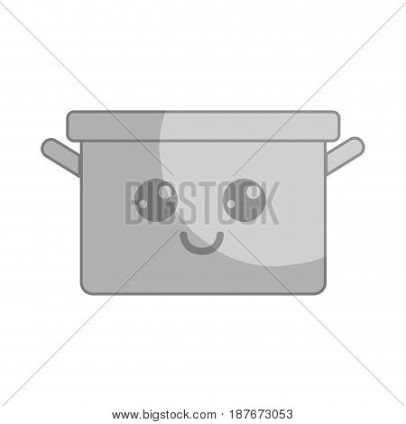 silhouette kawaii nice happy cooking pot, vector illustration design