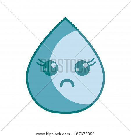 silhouette kawaii nice surprised drop water, vector illustration design