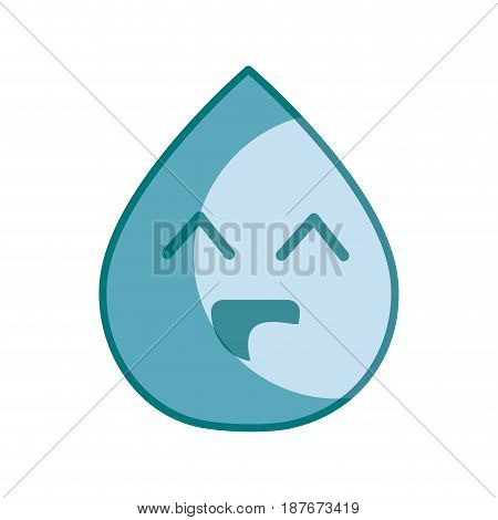 silhouette kawaii nice happy drop water, vector illustration design