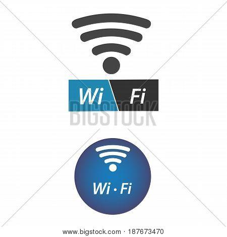 Wi fi vector icon vector illustration. Internet signal