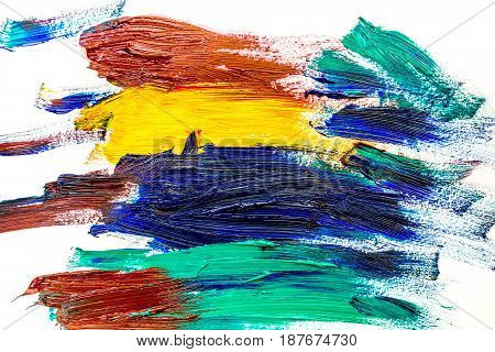 abstract pattern with multicolored oil paintings texture for artist design