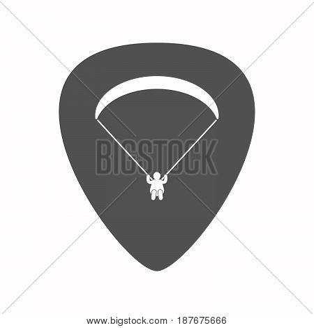 Isolated Guitar Plectrum With A Paraglider