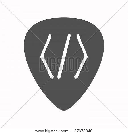Isolated Guitar Plectrum With A Code Sign