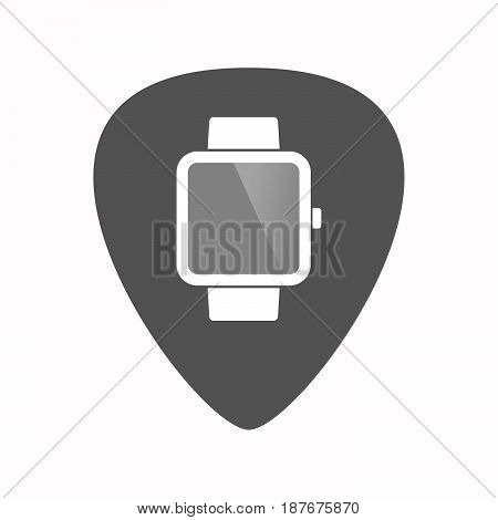 Isolated Guitar Plectrum With A Smart Watch