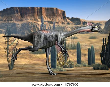 gigantoraptor reptile poster