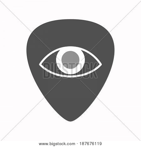 Isolated Guitar Plectrum With An Eye