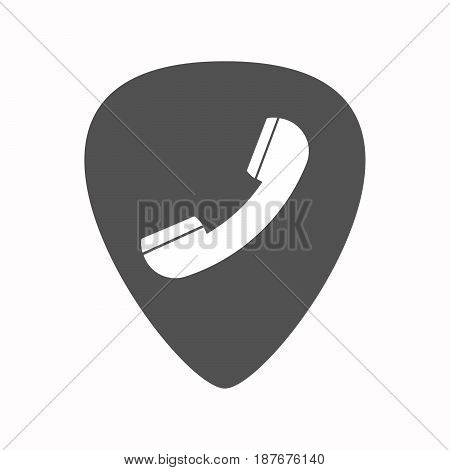 Isolated Guitar Plectrum With A Phone