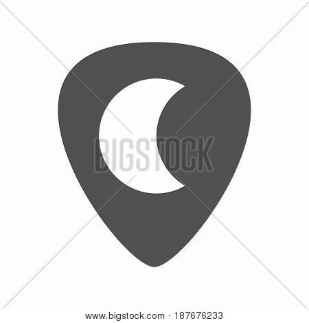 Isolated Guitar Plectrum With A Moon