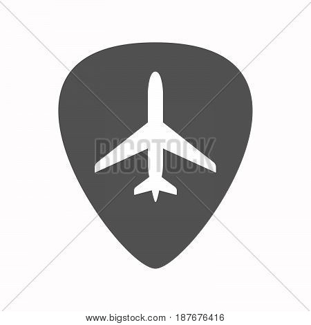 Isolated Guitar Plectrum With A Plane