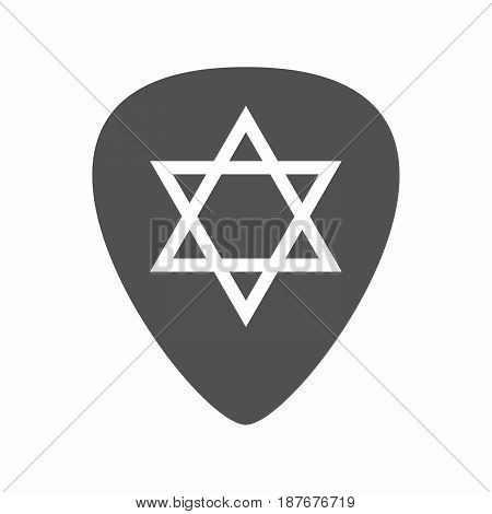 Isolated Guitar Plectrum With A David Star