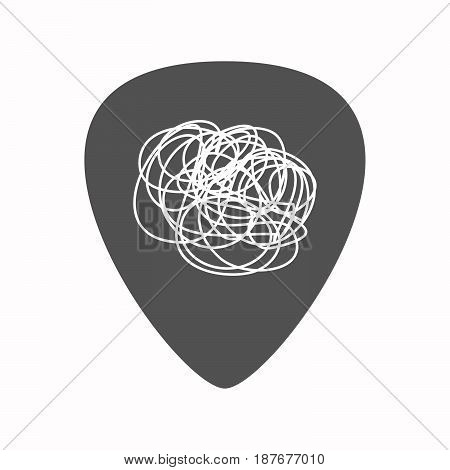 Isolated Guitar Plectrum With A Doodle