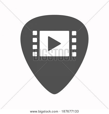 Isolated Guitar Plectrum With A Multimedia Sign