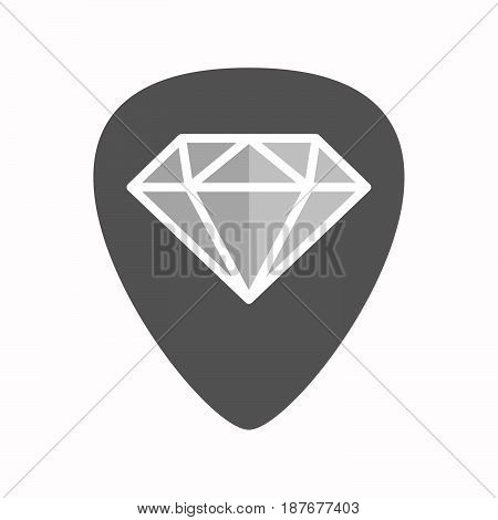 Isolated Guitar Plectrum With A Diamond
