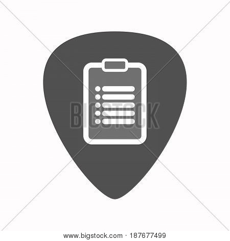Isolated Guitar Plectrum With A Report