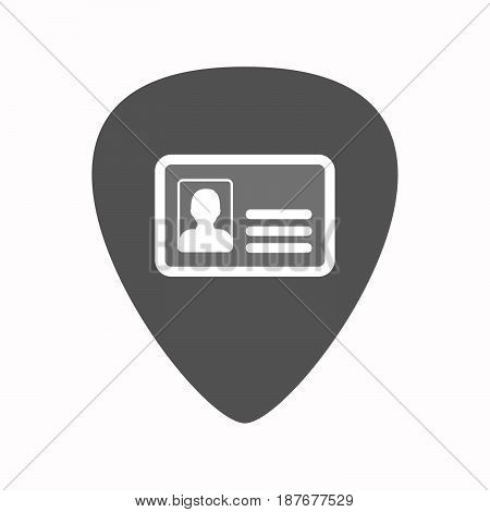 Isolated Guitar Plectrum With An Id Card