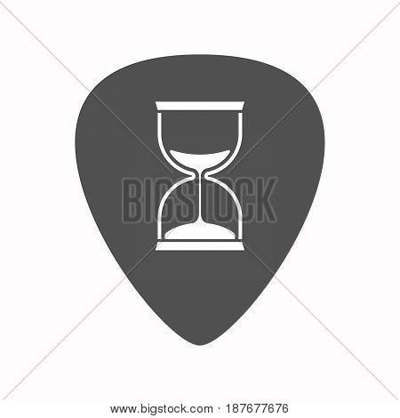 Isolated Guitar Plectrum With A Sand Clock