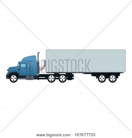truck container transport delivery commerce vector illustration