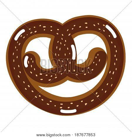 delicious bakery pretzel bread, vector illustration design