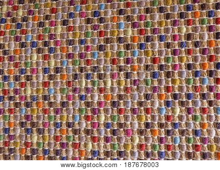 Background Pattern Various Colors of Handicraft Weave Texture Wicker Surface for Furniture Material.