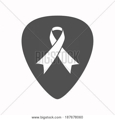 Isolated Guitar Plectrum With An Awareness Ribbon