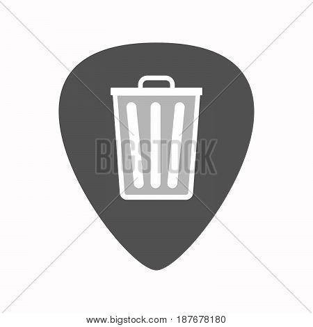 Isolated Guitar Plectrum With A Trash Can