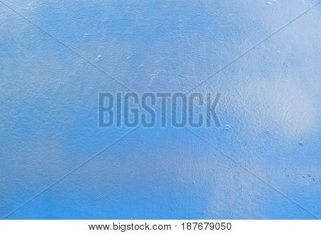 Background Pattern Horizontal Texture of Blue Metal Plate with Copy Space for Text Decorated.