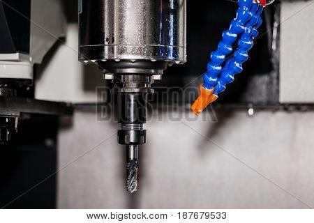 CNC turning center close up metal processing machine