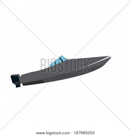 boat nautical transport modern luxury vector illustration