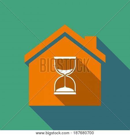 Long Shadow House With A Sand Clock