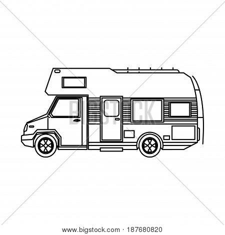 truck camping transport travel tourism vector illustration