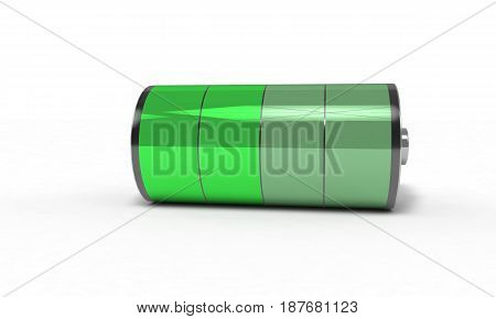 Rechargeable battery medium , 3d render working
