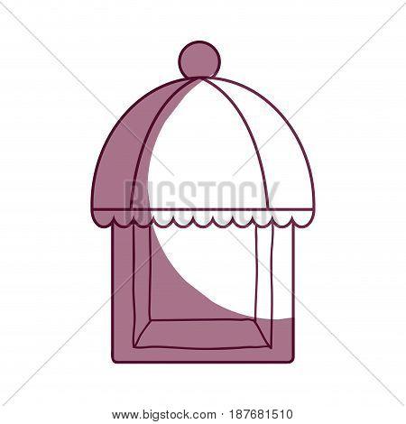 silhouette nice bakery store over white background, vector illustration