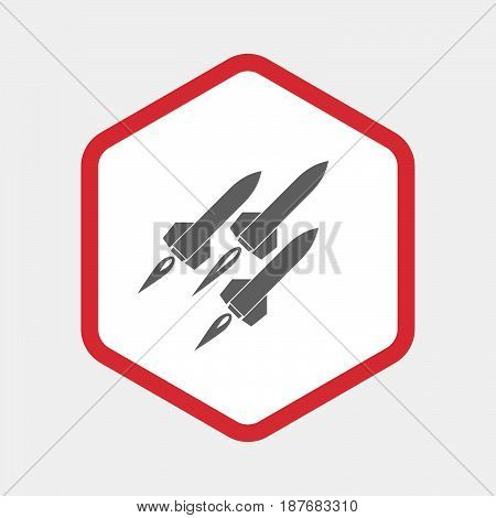 Isolated Hexagon With Missiles