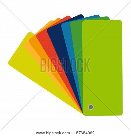 Color swatch, guide colorful flat icon. Graphic illustration