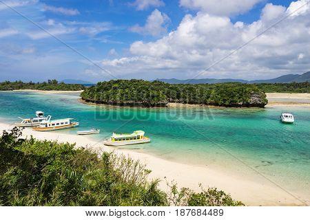 Kabira Bay of Ishigaki Island in Okinawa, Japan.