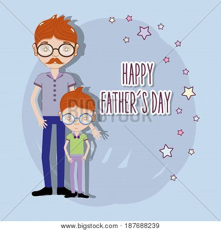 father with his son celebrating father day, vector illustration