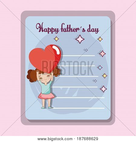 father day card to celebrate special day, vector illustration