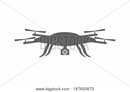 Drone icon. Drone isolated on white background
