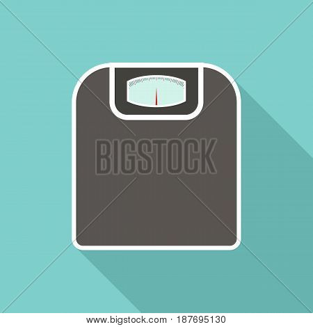 Vector illustration of floor scales with long shadow.