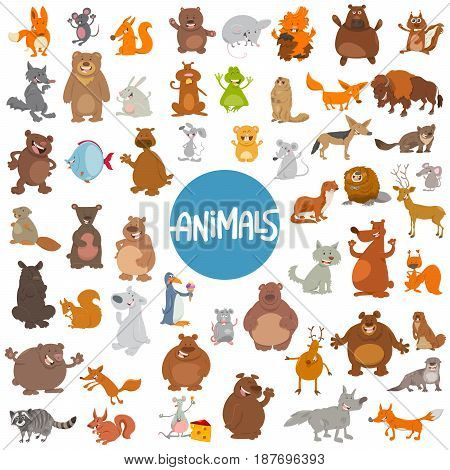 Cartoon Animal Characters Huge Set