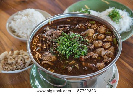 Braised Beef Clear With Meat Tendon Ball Soup Stew
