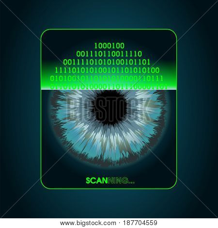 Retina scanning - digital security system access, biometric