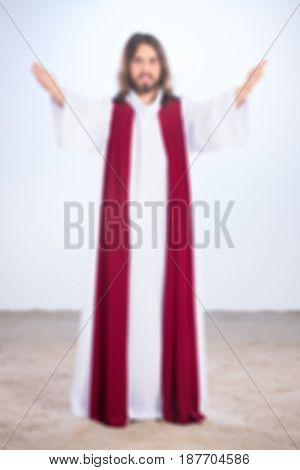 Blurry Photo Of Christ