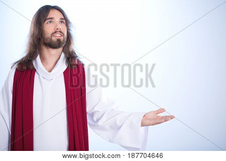 Christ Saying A Prayer