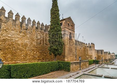 Ancient City Walls in Cordoba andalusia Spain