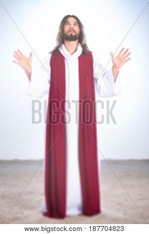 Jesus With Hands Up